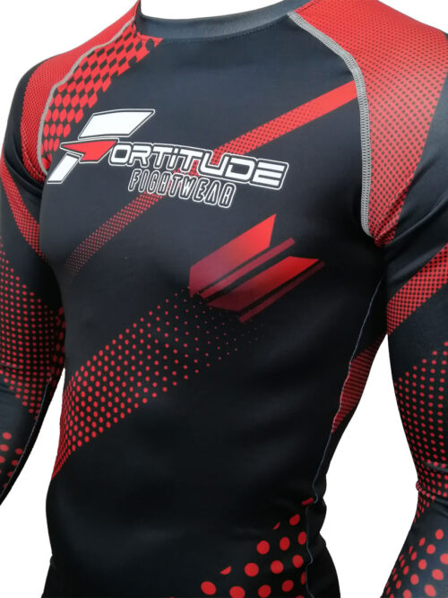 Fortitude Fightwear Long Sleeve Rashguard Red